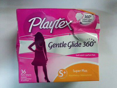 Playtex Gentle Glide Tampons with Triple Layer Protection Super Plus Fresh 36 ct