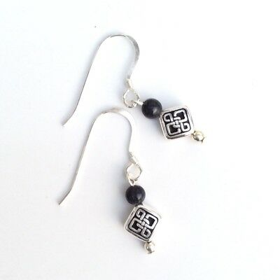 Small Kilkenny marble Celtic earrings. Irish made stone gemstone jewelry gift