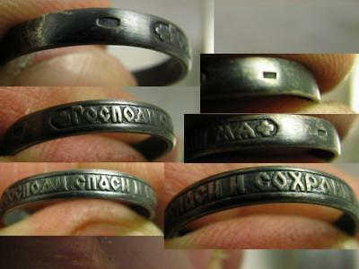Saved Prayer ! Old Vintage Church Sterling Silver Ring # 6930