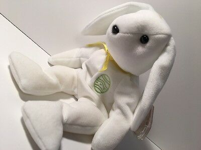 Ty Beanie Babies COLOR ME BUNNY Yellow Ribbon Green Egg Embroidery Retired