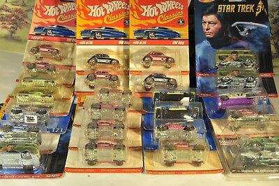 hot wheels fabrikfrisch 25 Modelle ungeöffnet u. a. Star Trek 50