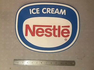 Nestle Ice Cream Large Double Sided Retailer Decal Sticker