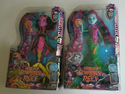 Lot of 2 Monster High Great Scarrier Reef Dolls NIB Posea Reef & Kala Mer'ri NEW