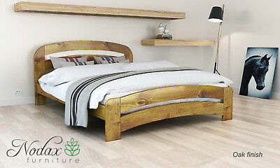 *NODAX* Wooden Pine King Size Bed 5ft Wooden Bed frame&Slats 'F10'