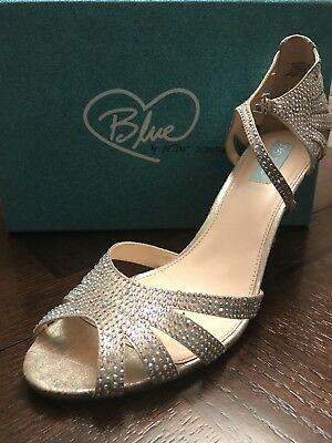 Blue By Betsy Johnson Size 12 Bridal Shoes