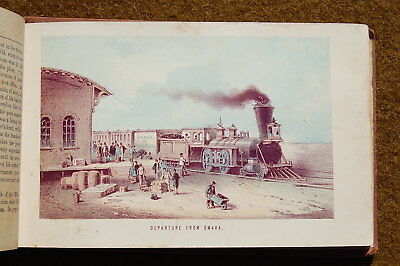 1871 Nelsons Pictorial Guide Book of UNION PACIFIC RAILROAD Llithograph Views!!!