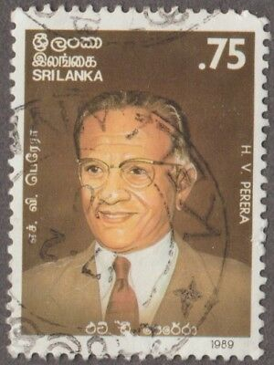 Sri Lanka H. V. Perera Q C Denomination 0.75  Issued 1989 Used Postage Stamp