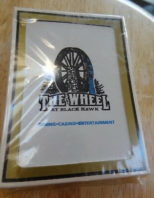Black Hawk Colorado Casino Poker Playing Cards, The Wheel Casino, New in box