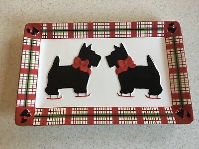 Scottie Dog Plaid Platter By Global Design Connections, Kate Williams