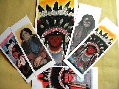 NATIVE AMERICAN BOOK MARKS , ( 5 ) TOTAL , with COLLECTOR ENVELOPE
