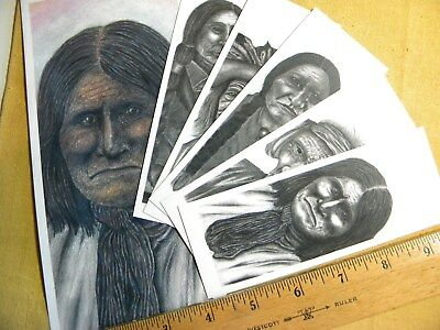 NATIVE AMERICAN BOOK MARKS ( 5 ) total , with COLLECTORS ENVELOPE