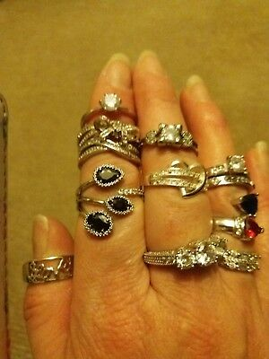 Silver rings job lot