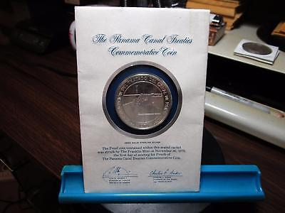 1978 Panama Canal Treaties Commemorative Coin - Silver Proof - 1.26 OZ.  (W-52)