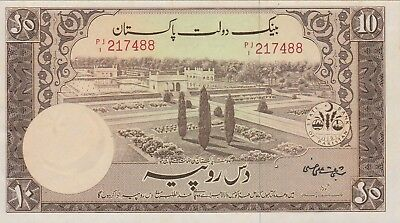 Pakistan 10 Rupees Banknote (1951) Uncirculated Condition Cat#13-7488