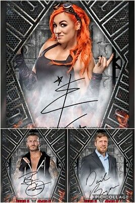 Topps WWE SLAM 2017 Hell In A Cell Black 1,250CCC Sigs - Becky, Bryan & Orton