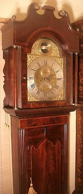 Antique Mahogany  Rotating Globulor Moon  Longcase / Grandfather Clock