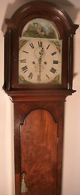 "Antique Mahogany "" Whissonsett""  Automaton Dial  Longcase / Grandfather Clock"