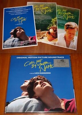CALL ME BY YOUR NAME OST 2x LP VINYL POSTER EDITION 1st PRESS w/ART PRINTS New