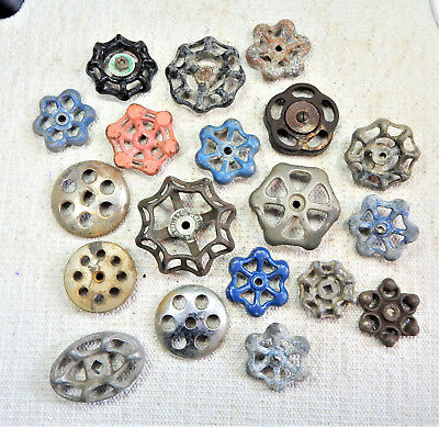 Collection Of 19 Vintage Valve Handles - Steampunk
