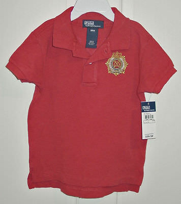 Ralph Lauren Infant Boys Red Short Sleeve Shirt Size 9 Months Newwith Tags