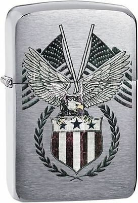 Zippo 29093, US Flag-Eagle, 1941 Replica Brushed Chrome Lighter
