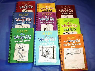 Diary of a wimpy kid set of hardcover books 1 10 4299 picclick a nice lot of 9 1 8 diary of a wimpy kid series solutioingenieria Gallery