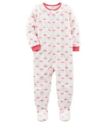 ec720a8d23b3 CARTER S BABY GIRLS  One-Piece Hearts Fleece Footed Pajamas