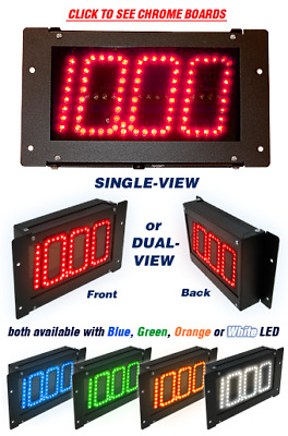Digital Delay Dial-In Display Board, Black with White LED, Single View