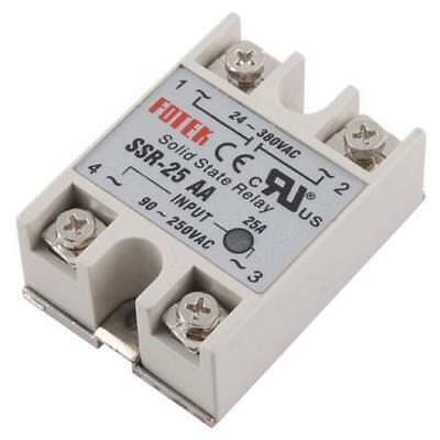 25A AA Solid State Relay SSR AC 90-250V 24-380V For Temperature Controller Hot!