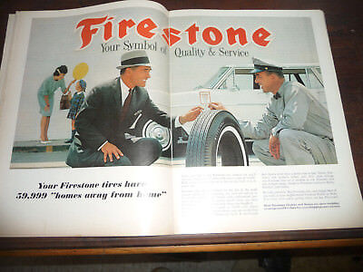 October 1962 Time Magazine,Firestone Advertisment,Double Page Spread