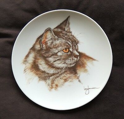 GORGEOUS CATS * COLLECTOR PLATE * LEO JANSEN * KITTY ZORBA * Limited Edition