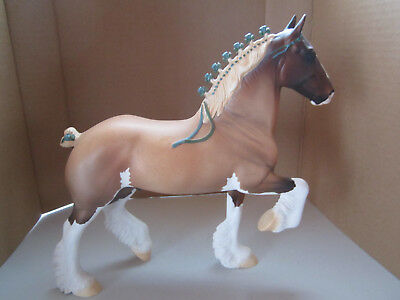 """Peter Stone Horse #CD 15066 """"Oberlin"""" Light Roan Sabino Clydesdale Drafter EXC"""