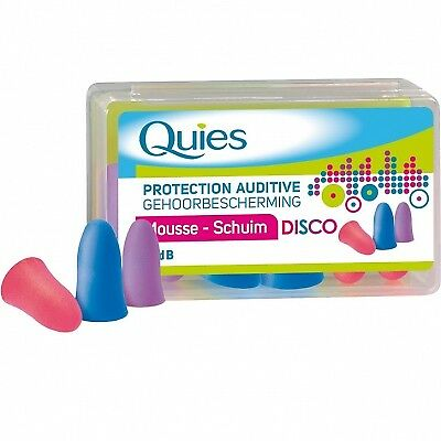 QUIES Protection Auditive Mousse Disco Bruits Forts - 35dB - 3 paires