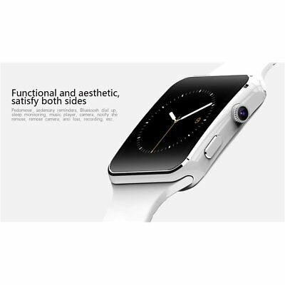 Reloj Pulsera Inteligente X6 Smartwatch Bluetooth SIM TF para iPhone Android