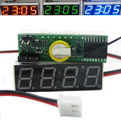 3 in 1 Car Digital LED Electronic Time Clock Thermometer Voltmeter Module