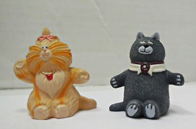 Hallmark Purrrsonality Cats Merry Miniatures Calvin And Taffi  1987