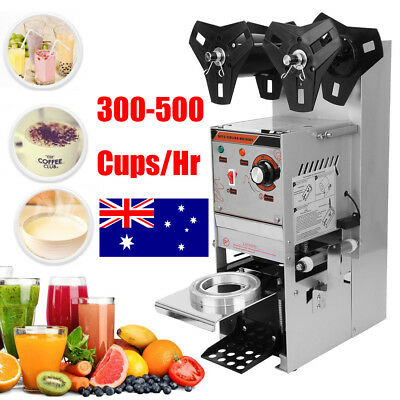 Electric Sealing Machine Cup Sealer Boba Bubble Tea Coffee 300-500 Cups/Hour