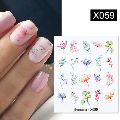 Lavender Nail Art Water Decals Transfer Stickers Spring Manicure Decoration