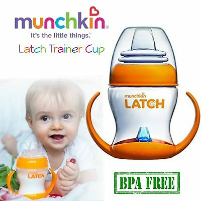Munchkin Latch Trainer Cup│Baby Feeder│BPA Free Soft Bottle│Ergonomic Handles
