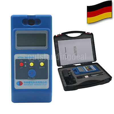 LCD Tesla Meter Gaussmeter Surface Magnetic Field Tester Ns Function WT10A  DE
