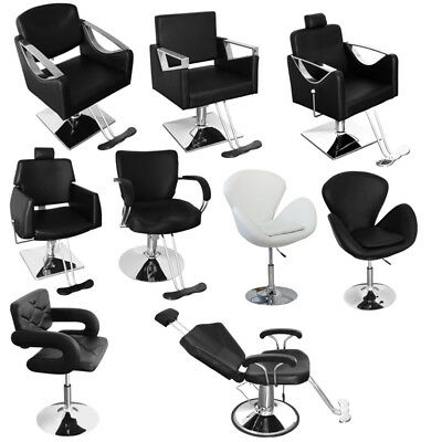 Black / White Style Salon Barber Chair Beauty Spa Hairdresser Chrome Square Base