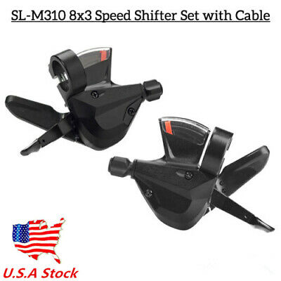 3x8 Speed Shift Lever Shifter Bike Bicycle Parts for Shimano Acera SL-M310 US