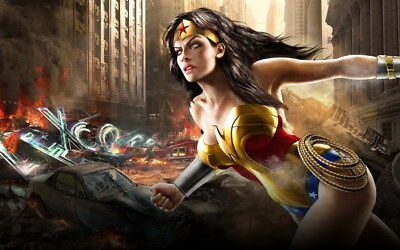 """006 Wonder Woman - Sexy Girl Justice League USA Hero 22""""x14"""" Poster"""