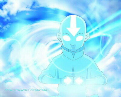 """008 Avatar The Last Airbender - Aang Fight Japan Anime 30""""x24"""" Poster"""
