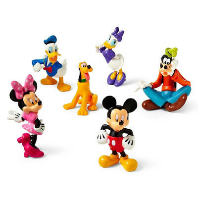 Mickey Mouse Minnie Donald Figures Cake Topper Clubhouse 6Pcs Set Toy