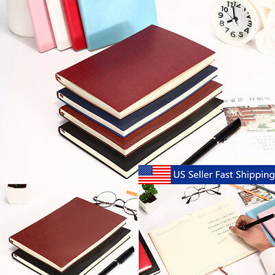 6 Color Soft Cover PU Leather Notebook Writing Journal 100 Page Lined Diary Book