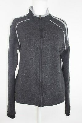 Kuhl Women's Sweater 100% Merino Wool Gray Full Zip Size L