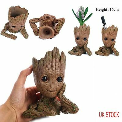 UK 16CM Guardians of The Galaxy Baby Groot Figure Flowerpot Style Pen Pot Gifts
