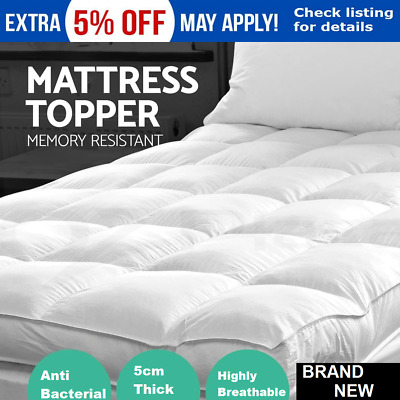 Pillowtop Matress Mattress Topper Memory Resistant Protector Pad Cover underlay