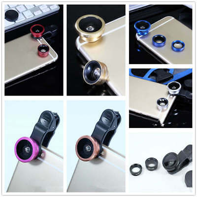 3 In 1 Fish Eye & Wide Angle & Macro Camera Lens Kit For Mobile Cell For iPhone